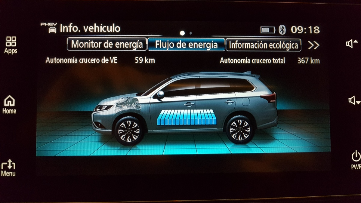 Mitsubishi Outlander PHEV 2018. 3° vídeo. Sistema multimedia