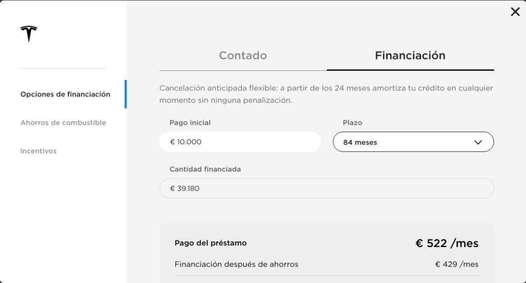 Opciones Financiacion Tesla M3_1