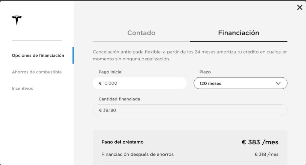 Opciones de Financiación Tesla M3_2